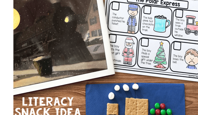 Literacy Snack Idea Train + Free Printable