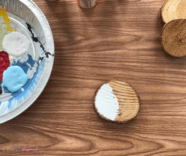 Wood Slice Snowman Ornament