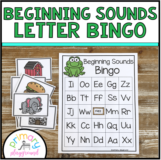 Beginning Sounds Letter Bingo