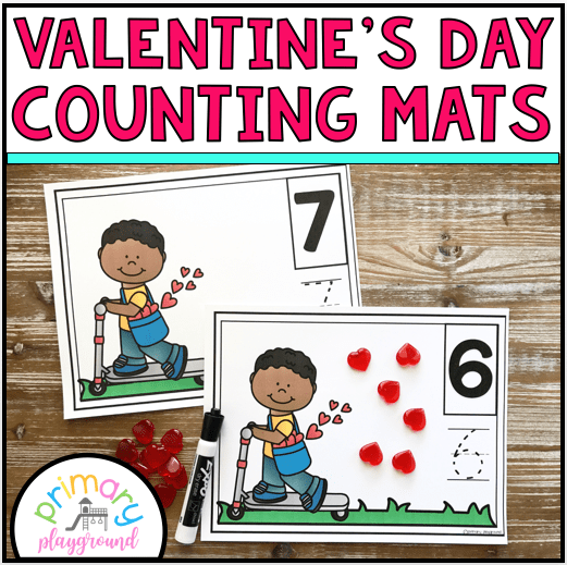 494536a5b7d February Kindergarten Math Activities. This month we re adding in some  hearts an emojis! Make sure you check out the link to the free emoji ten  frame cards ...