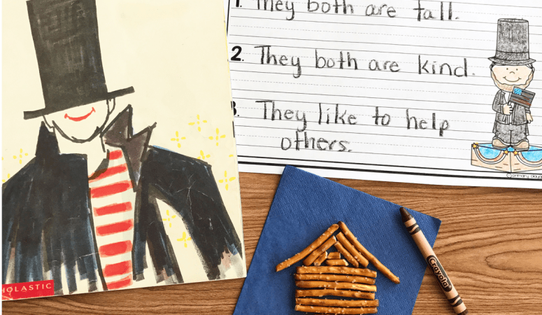 Literacy Snack Idea Abraham Lincoln + Free Printable
