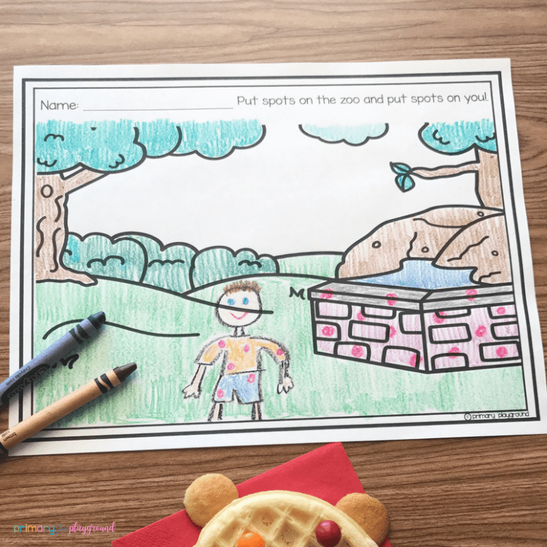 Literacy Snack Idea Put Me In The Zoo Printable
