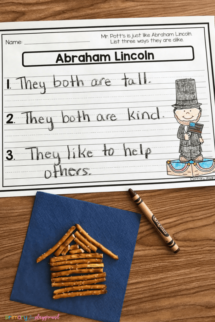 Just Like Abraham Lincoln comparison printable