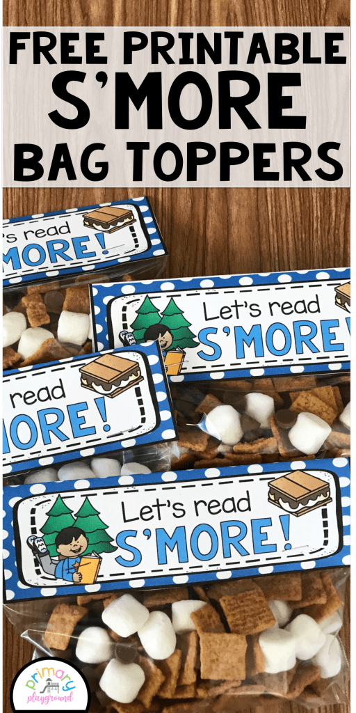 Free Printable S'more Bag Topper