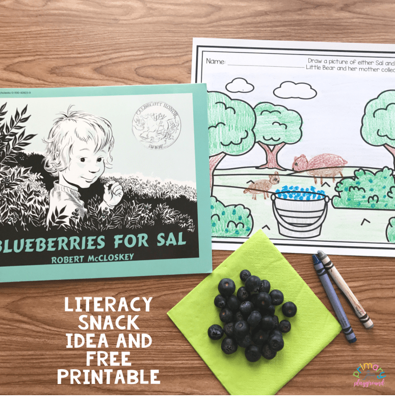 Literacy Snack Idea Blueberries -Blueberries for Sal