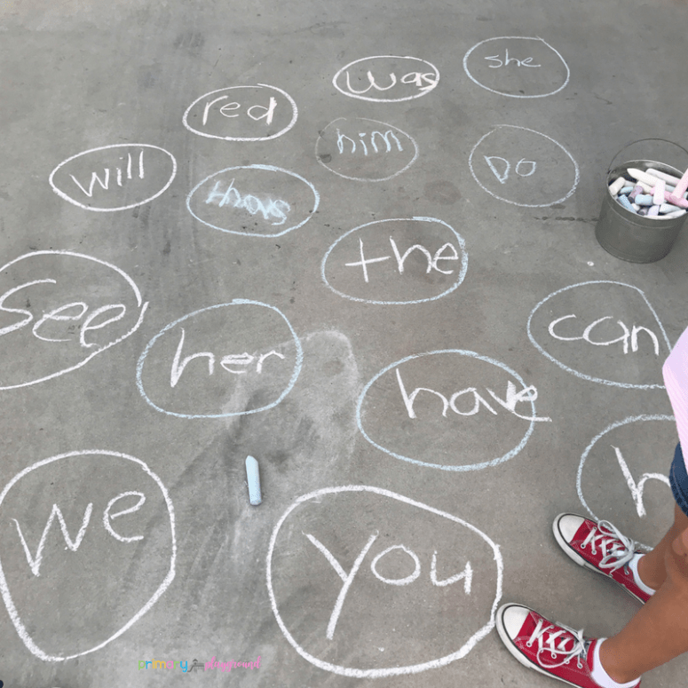 sight word water balloon toss