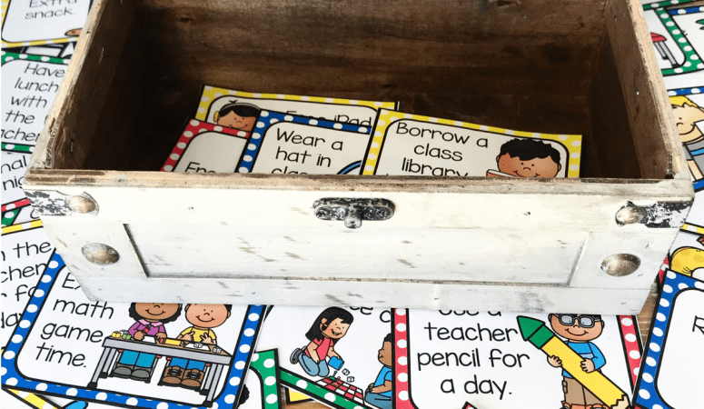 Treasure Box Coupons For The Classroom