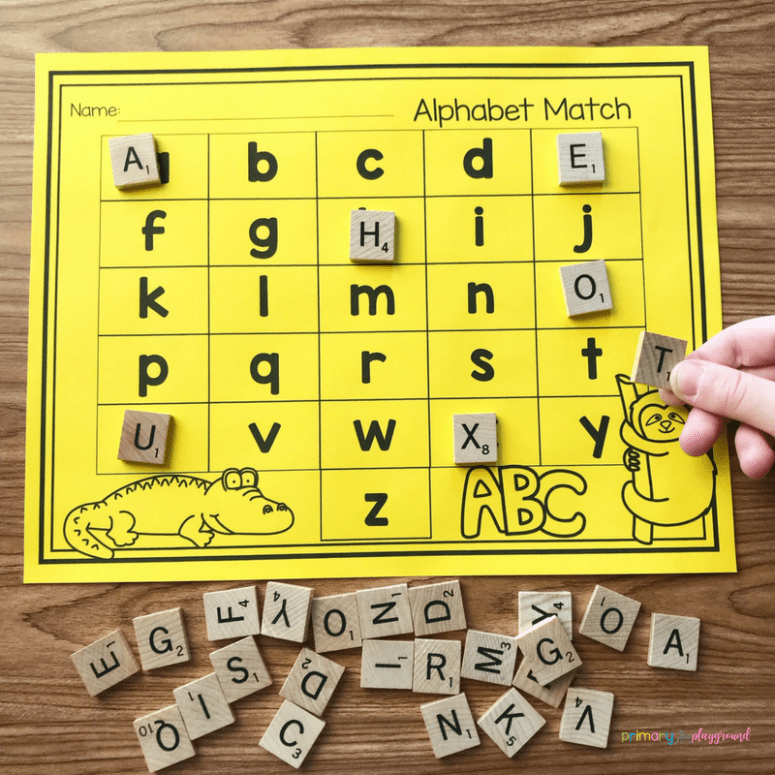 Free Printable Alphabet Match A fun and engaging activity to practice letter recognition.