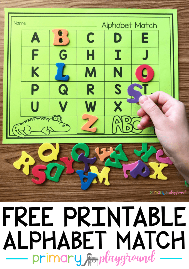 Free Printable Alphabet Match