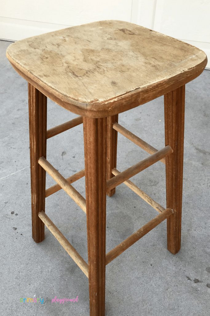 DIY teacher stool before