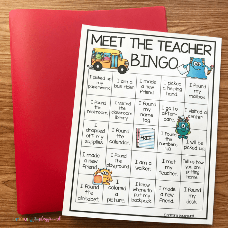 free printable meet the teacher bingo