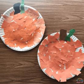 Paper Plate Pumpkin Craft2