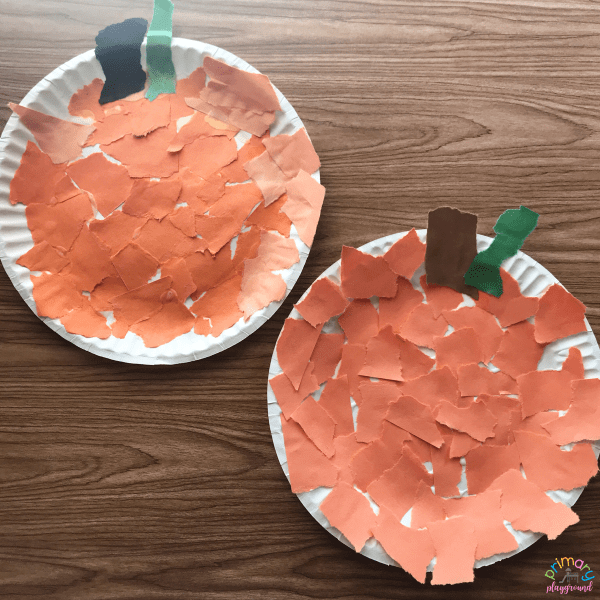 Paper Plate Pumpkin Craft2