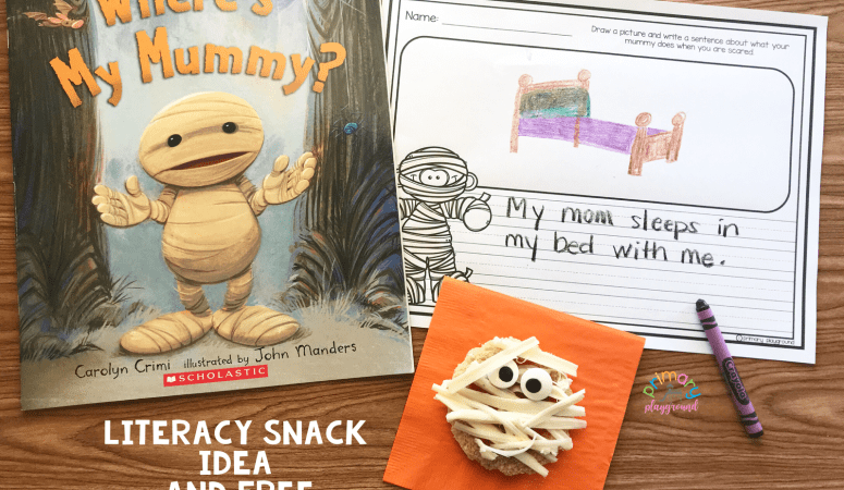 Literacy Snack Idea Baby Mummy + Free Printable