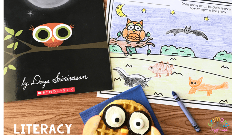 Literacy Snack Idea Owl + Free Printable