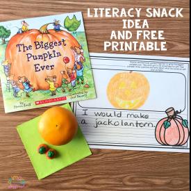 Literacy Snack Idea Pumpkin