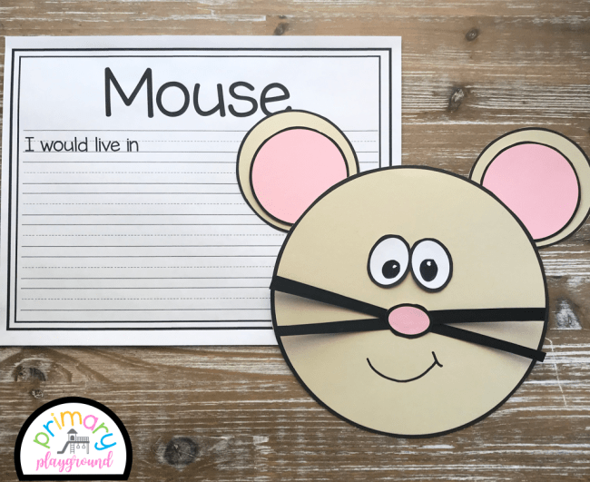 mouse craft with writing prompts