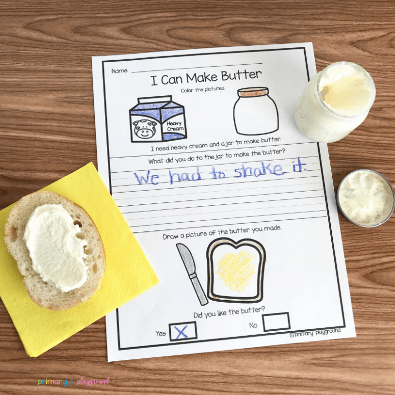 making butter in the classroom