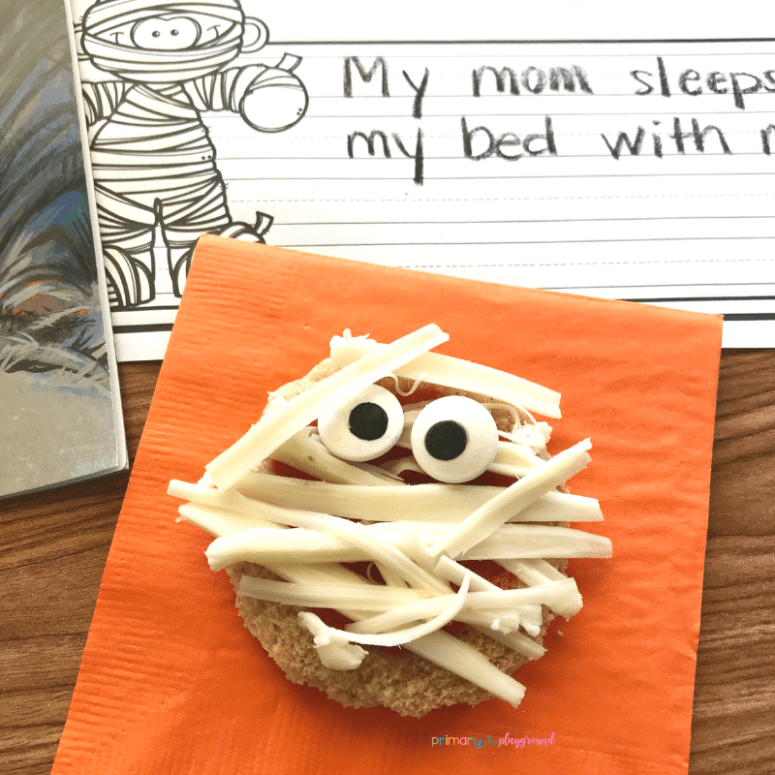 literacy snack idea baby mummy = free printable