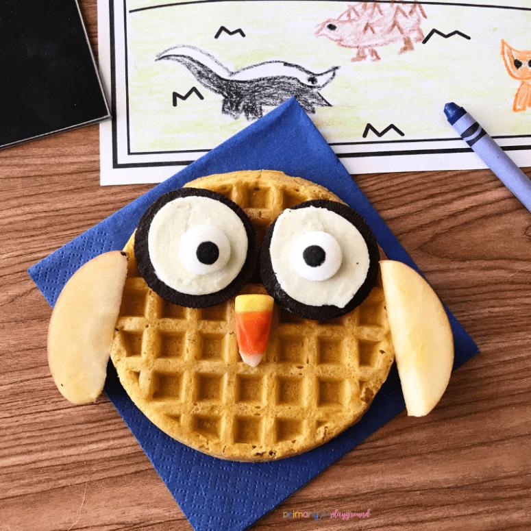literacy snack idea owl- owl snack