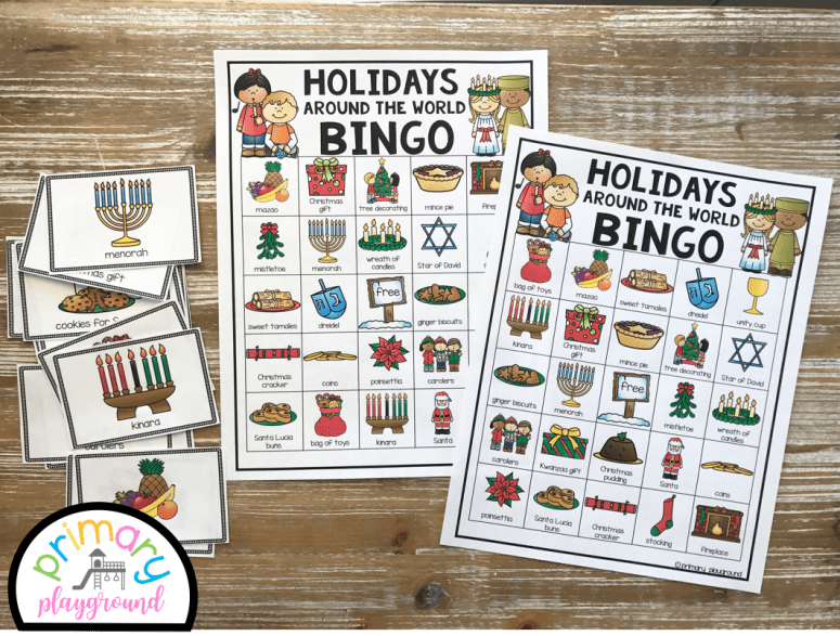 holidays around the world bingo