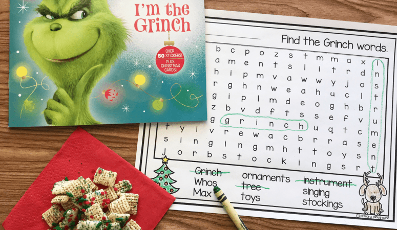 Literacy Snack Idea Grinch + Free Printable