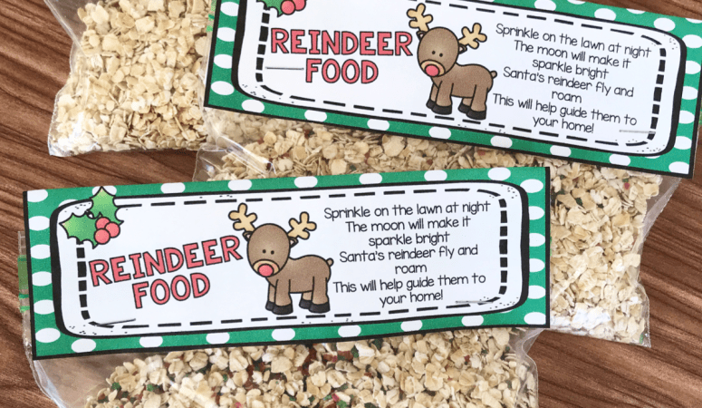 Free Printable Reindeer Food Bag Topper