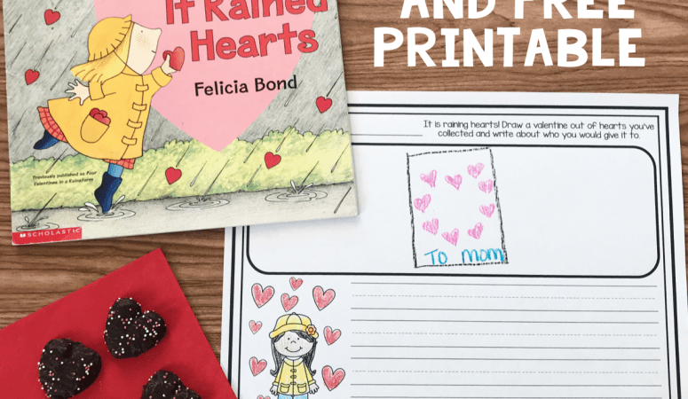 Literacy Snack Idea  Hearts  + Free Printable