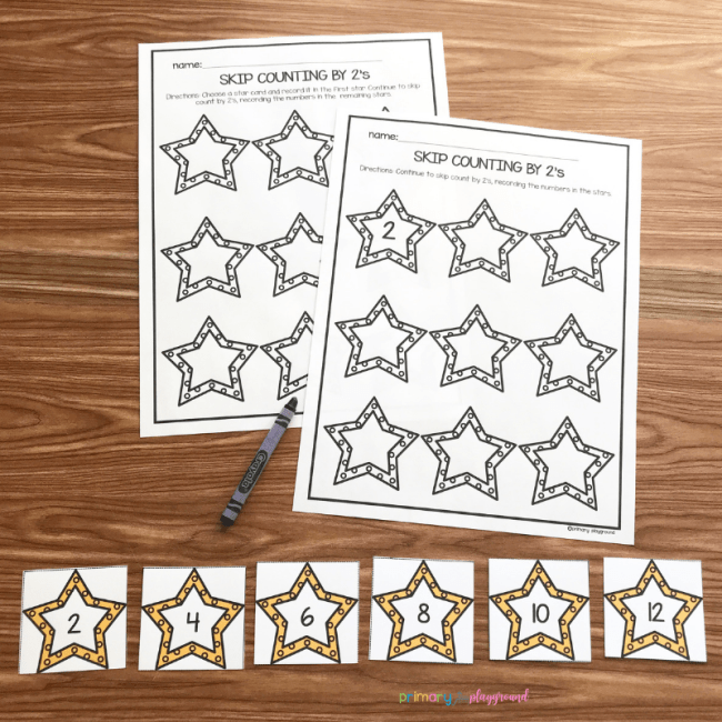 free printable counting by 2's