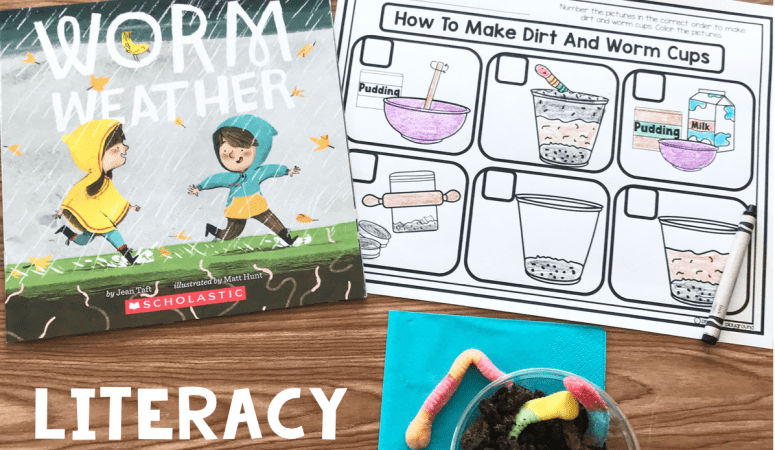 Literacy Snack Idea Worms + Free Printable
