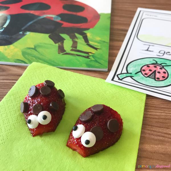 literacy snack idea ladybug - The Grouchy Ladybug