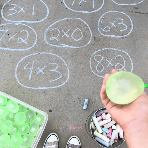 math water balloon toss multiplication