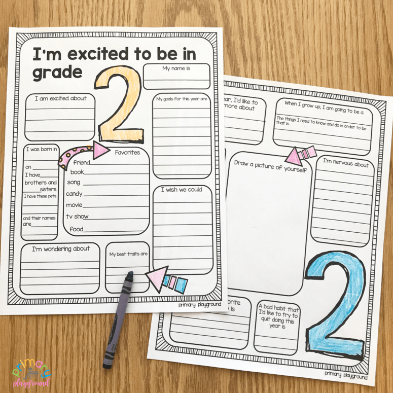 Free Printable First Day Of School All About Me