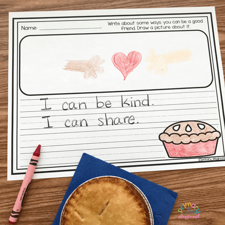 Literacy Snack Idea Making Friends + Free Printable Enemy Pie