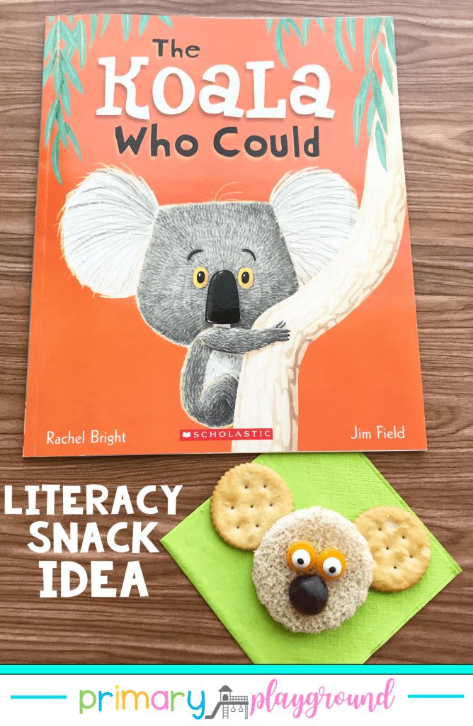 Literacy Snack Idea Koala + Free Printable