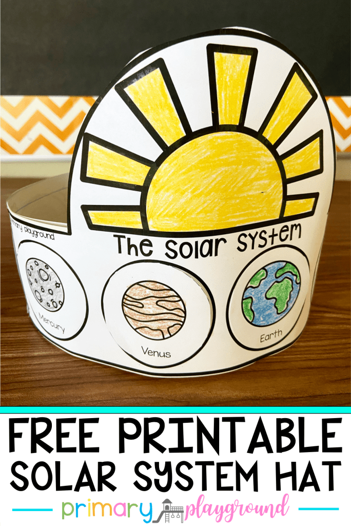 Kids love learning about space! Today I'm sharing a Free Printable Solar System Hat that you can use along with your space unit!