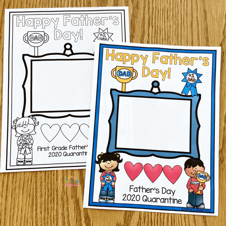 Free Printable Father's Day Photo Gift