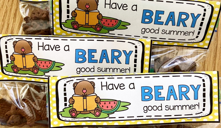 Have A Beary Good Summer Snack Bag Topper