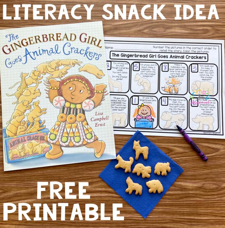 Literacy Snack Idea Gingerbread Girl