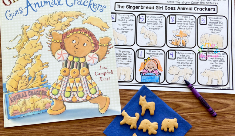 Literacy Snack Idea Gingerbread Girl
