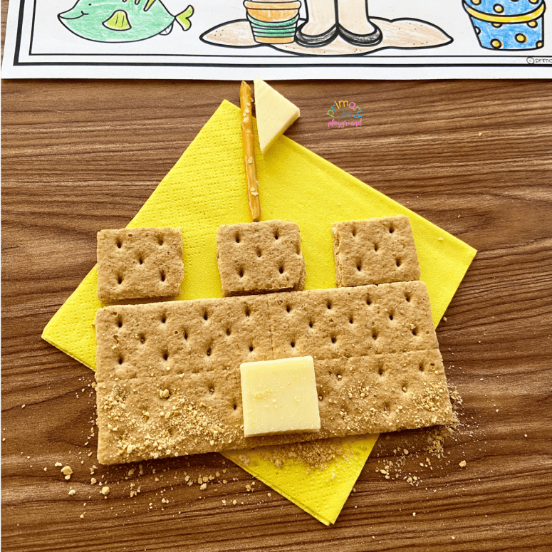 Literacy Snack Idea Sandcastle