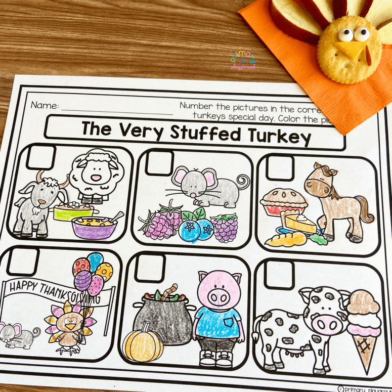 Literacy Snack Idea Stuffed Turkey Free Printable