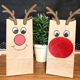 Paper Bag Reindeer Craft2