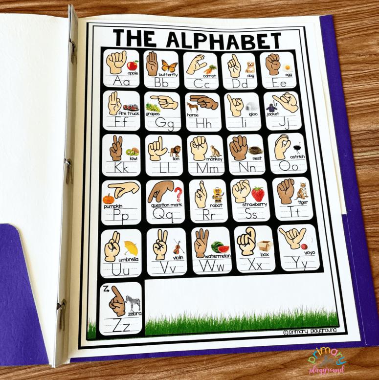 Free ASL Alphabet Poster