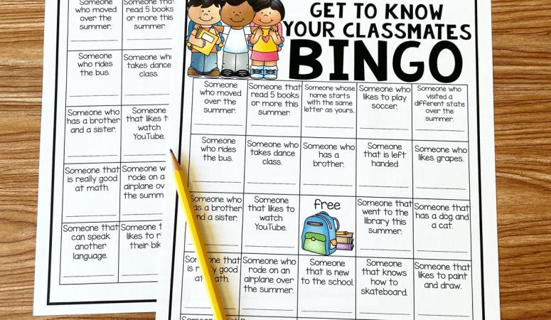 Get To Know Your Classmates Bingo