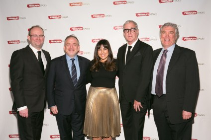 Andrew Leynse, Marc Shaiman, Michelle Bossy, Scott Wittman, and Casey Childs