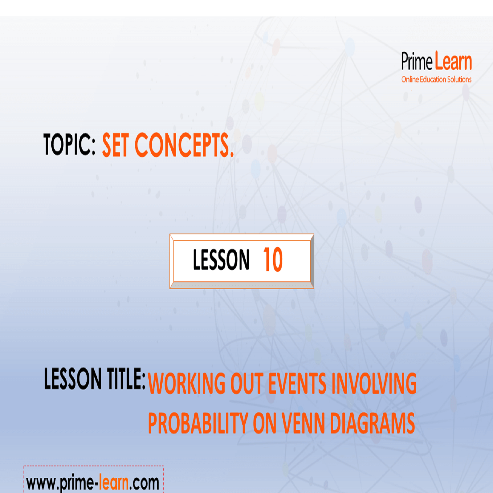 10 Working Out Events Involving Probability On Venn