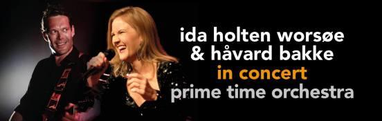 Ida Holten Worsoe og Havard Bakke in concert Prime Time Orchestra with strings banner