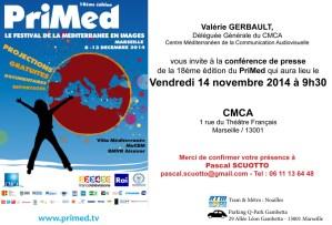 Invitation - conférence de presse PriMed 2014 - cmca