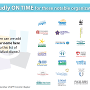 Proudly On Time for These Fundraising Organizations.